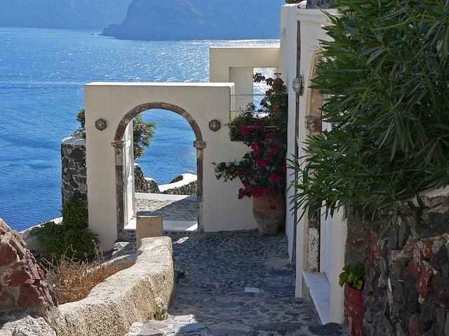 Santorini walkway