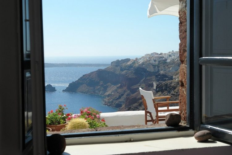 Santorini honeymoon view
