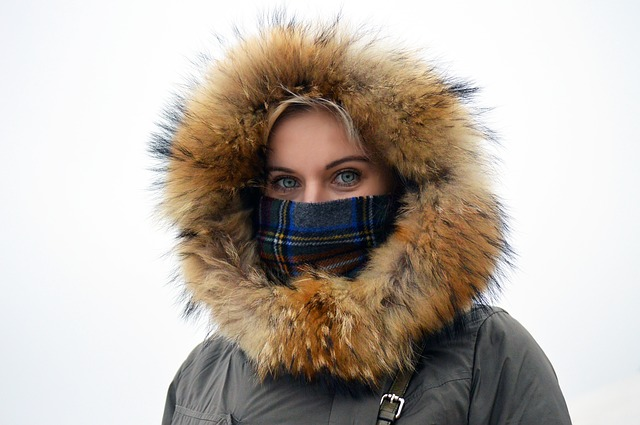 Girl in artic coat