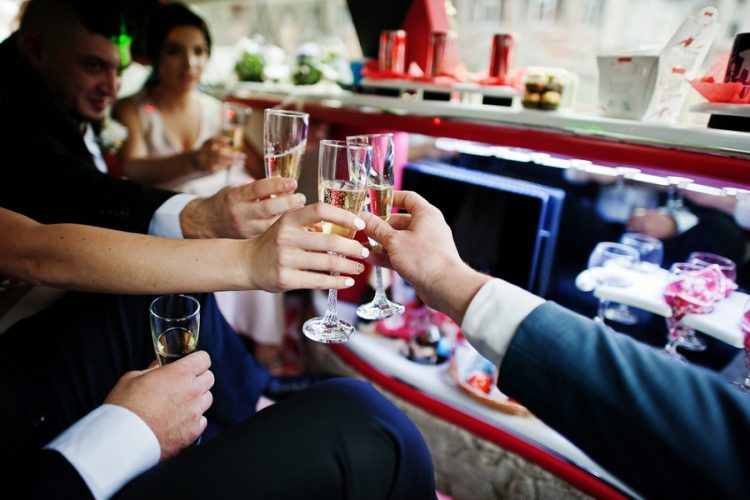 wedding party bus rental